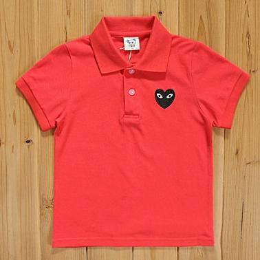 เสื้อยืดโปโล PLAY Comme สีแดง (5size/pack)