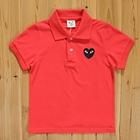 เสื้อยืดโปโล-PLAY-Comme-สีแดง-(5size/pack)