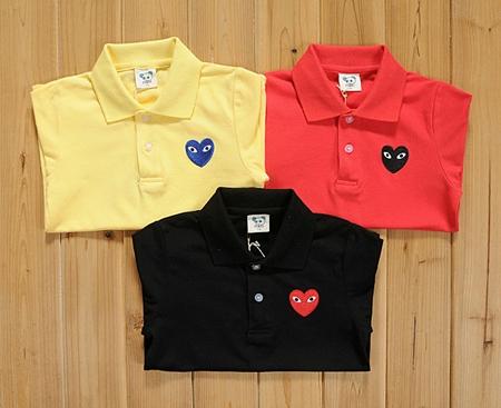 เสื้อยืดโปโล PLAY Comme สีดำ (5size/pack)