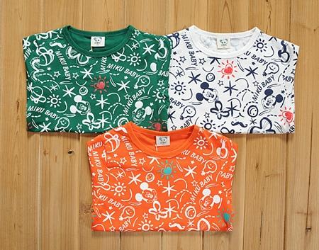 เสื้อยืด Mickey Holiday สีเขียว (5size/pack)