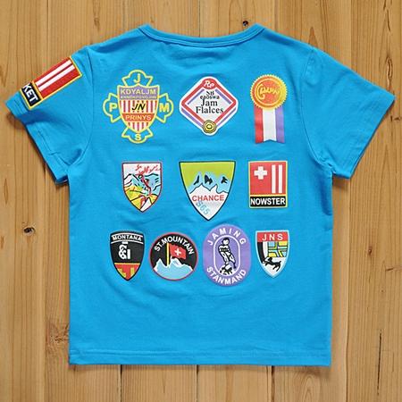 เสื้อแขนสั้นลูกเสื้อ สีฟ้า (5size/pack)