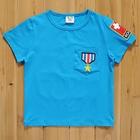 เสื้อแขนสั้นลูกเสื้อ-สีฟ้า-(5size/pack)