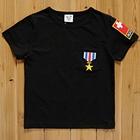 เสื้อแขนสั้นลูกเสื้อ-สีดำ-(5size/pack)