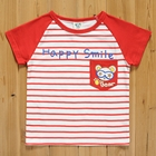 เสื้อแขนสั้น-Happy-Smile-สีแดง-(5size/pack)