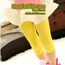 กางเกงเลกกิ้ง สีเหลือง (5size/pack)