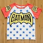 เสื้อแขนสั้น-Batman-Star-สีแดง-(5size/pack)