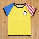 เสื้อแขนสั้น-PaulFrank-สีเหลือง-(5size/pack)