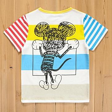 เสื้อแขนสั้น My Mickey สีเหลือง (5size/pack)