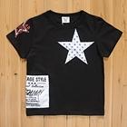 เสื้อแขนสั้น-Star-สีดำ-(5size/pack)