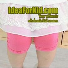 กางเกงเลกกิ้ง สีชมพูเข้ม (5size/pack)