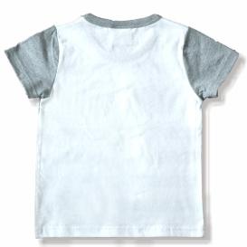 เสื้อแขนสั้นมิกกี้ซ่อนแอบ สีเทาอ่อน (5ตัว/pack)