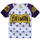 เสื้อแขนสั้น-Batman-Star-สีม่วง-(5ตัว/pack)