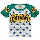 เสื้อแขนสั้น-Batman-Star-สีเขียว-(5ตัว/pack)