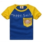 เสื้อแขนสั้น-Happy-Smile-สีน้ำเงิน-(5ตัว/pack)