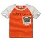 เสื้อแขนสั้น-Happy-Smile-สีส้ม-(5ตัว/pack)