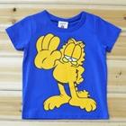 เสื้อแขนสั้น-Garfield-สีน้ำเงิน-(5ตัว/pack)
