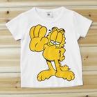 เสื้อแขนสั้น-Garfield-สีขาว-(5ตัว/pack)