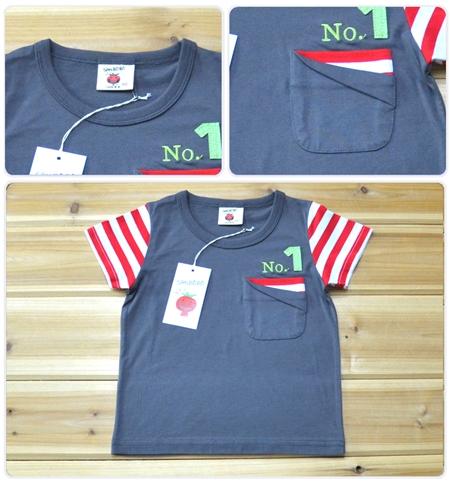 เสื้อแขนสั้น No.1 สีเทาอ่อน (5ตัว/pack)