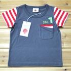 เสื้อแขนสั้น-No.1-สีเทาเข้ม-(5ตัว/pack)