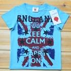 เสื้อแขนสั้น-England-สีฟ้า-(5ตัว/pack)