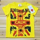 เสื้อแขนสั้น-England-สีเหลือง-(5ตัว/pack)