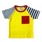 เสื้อแขนสั้น-แมวยิ้ม-สีเหลือง-(5ตัว/pack)