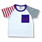 เสื้อแขนสั้น-แมวยิ้ม-สีขาว-(5ตัว/pack)