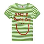 เสื้อแขนสั้น-Smile-สีเขียว-(5ตัว/pack)