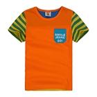 เสื้อแขนสั้น-Smile-Jeans-Go!-สีส้ม-(5ตัว/pack)