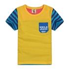 เสื้อแขนสั้น-Smile-Jeans-Go!-สีเหลือง-(5ตัว/pack)
