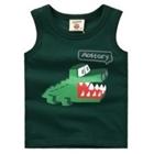 เสื้อกล้ามจรเข้เหลี่ยม-สีเขียว-(5ตัว/pack)