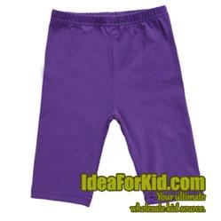 กางเกงเลกกิ้ง สีม่วง (5size/pack)