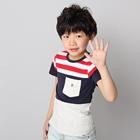 เสื้อแขนสั้ันเด็กชายเกาหลี-(5ตัว/pack)