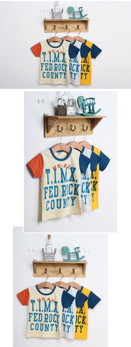 เสื้อแขนสั้ัน FED ROCK สีเทา (5ตัว/pack)