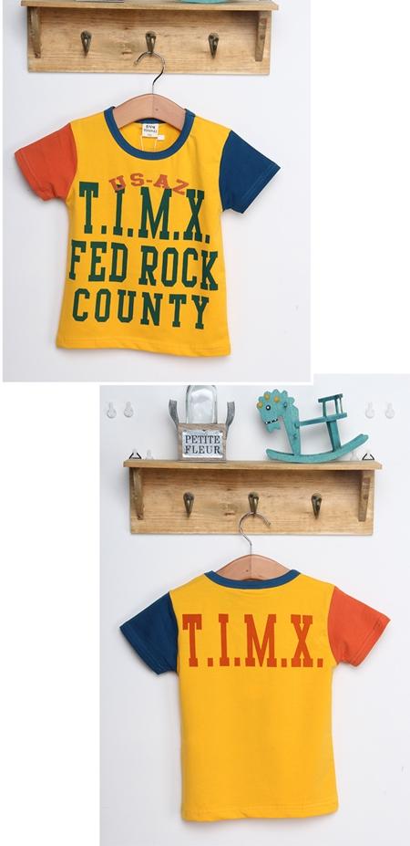 เสื้อแขนสั้ัน FED ROCK สีเหลือง (5ตัว/pack)
