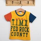 เสื้อแขนสั้ัน-FED-ROCK-สีเหลือง-(5ตัว/pack)