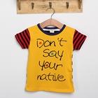 เสื้อแขนสั้ัน-Native-สีเหลือง-(5ตัว/pack)