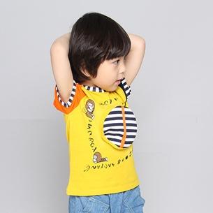 เสื้อแขนสั้ัน 3 Milo สีเหลือง (5ตัว/pack)