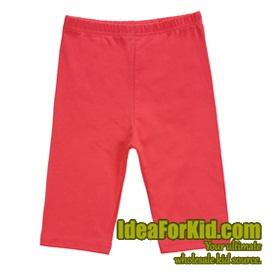 กางเกงเลกกิ้ง สีแดงแตงโม (5size/pack)