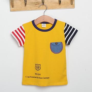 เสื้อแขนสั้ัน SB สีเหลือง (5ตัว/pack)