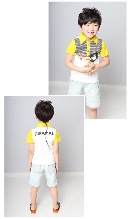 เสื้อโปโล D2 สีเหลือง (5 ตัว/pack)
