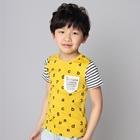 เสื้อแขนสั้ัน-AB-Number-สีเหลือง-(5ตัว/pack)