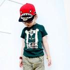 เสื้อยืดแขนสั้น-Bear-สีเขียว-(5size/pack)