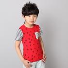 เสื้อแขนสั้ัน-AB-Number-สีแดง-(5ตัว/pack)