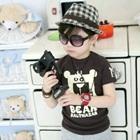 เสื้อยืดแขนสั้น-Bear-สีน้ำตาล-(5size/pack)