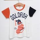 เสื้อแขนสั้ัน-Gold-Fish-สีขาว-(5ตัว/pack)