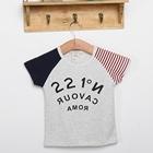 เสื้อแขนสั้ัน-221-สีเทา-(5ตัว/pack)