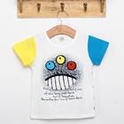 เสื้อแขนสั้ัน-Monster-3-ตา-สีฟ้าเหลือง-(5ตัว/pack)