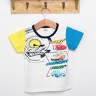 เสื้อแขนสั้ัน-Faster-สีเหลืองฟ้า-(5ตัว/pack)