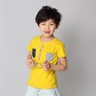 เสื้อแขนสั้ันกระเป๋า-2-สี-สีเหลือง-(5ตัว/pack)